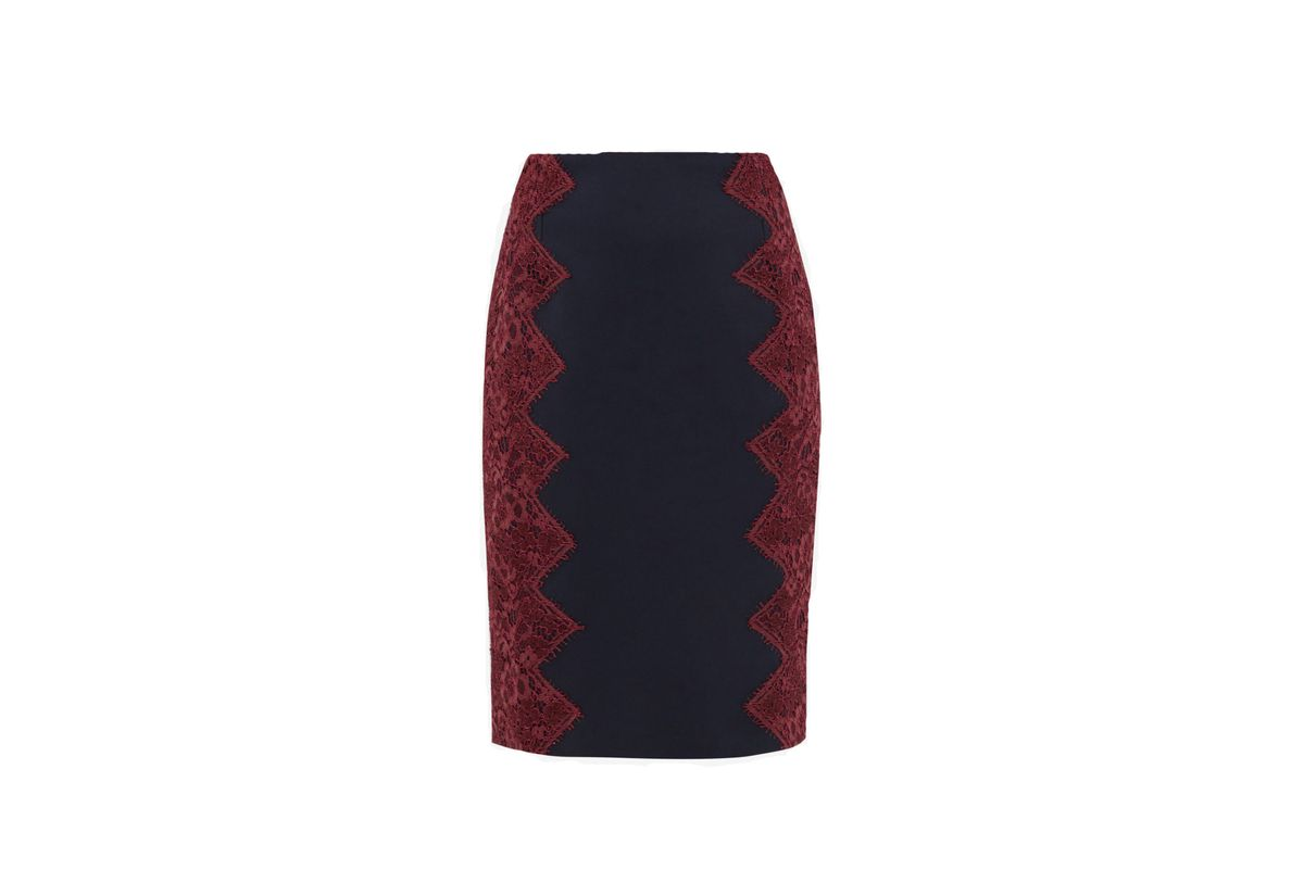 Queeny scallop lace pencil skirt