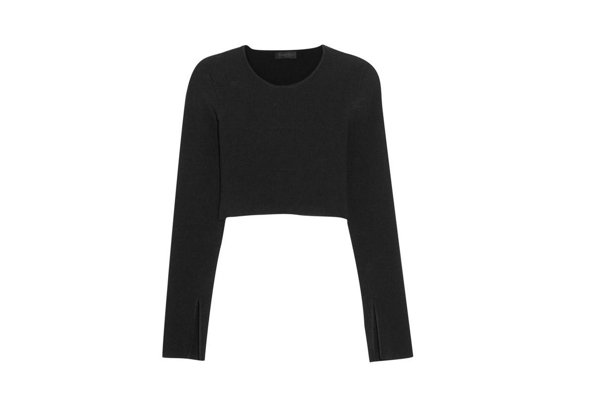 Bao cropped ribbed-knit top
