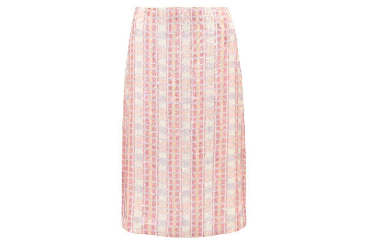 Sequined silk-georgette midi skirt