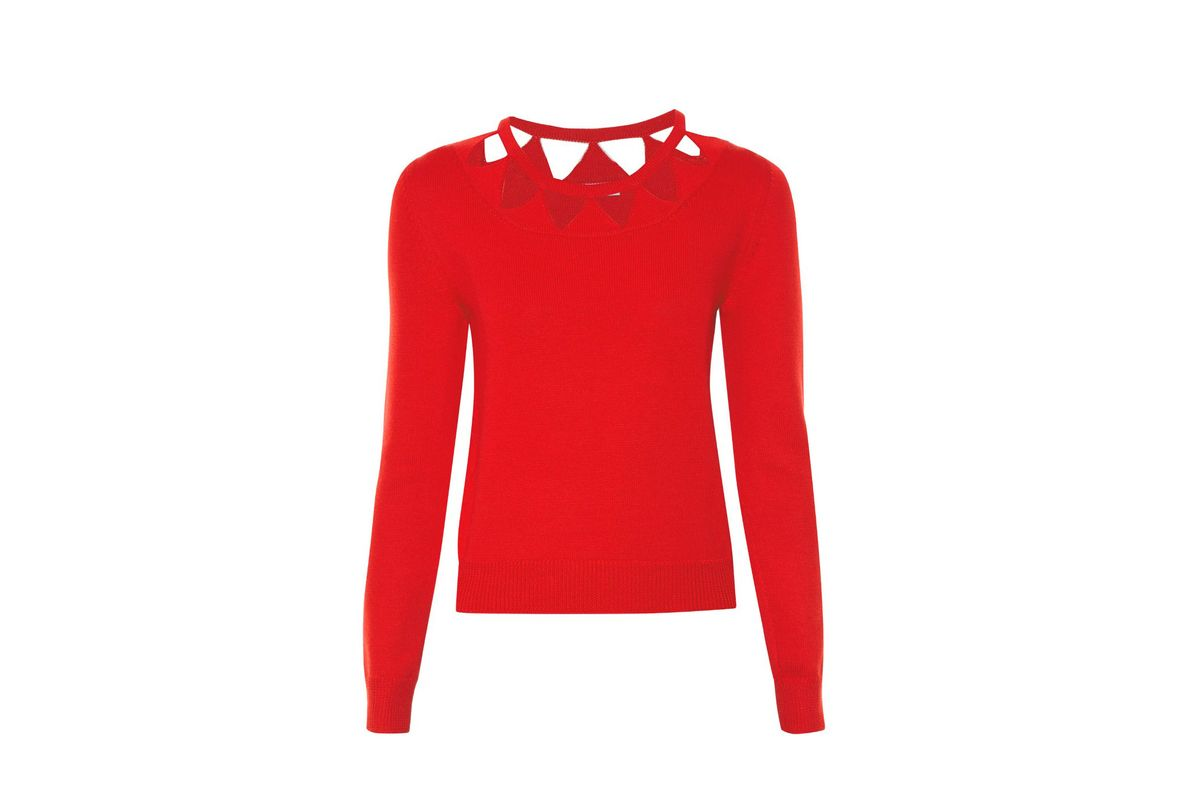 Woodward cut-out wool sweater
