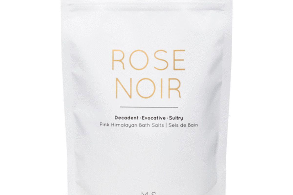 rose noir pink himalayan bath salts