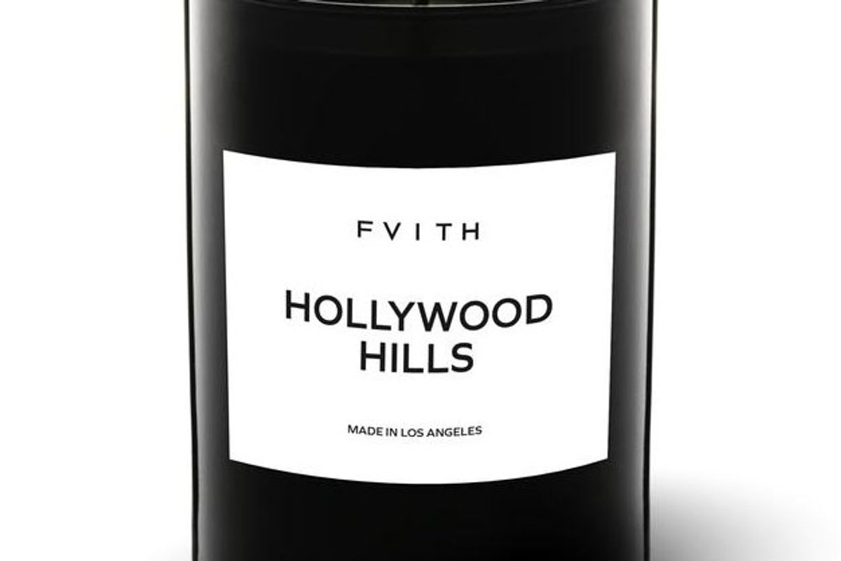 fvith hollywood hills candle