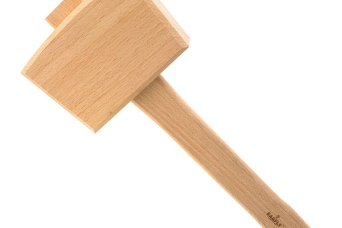 mercer culinary barfly wood ice mallet