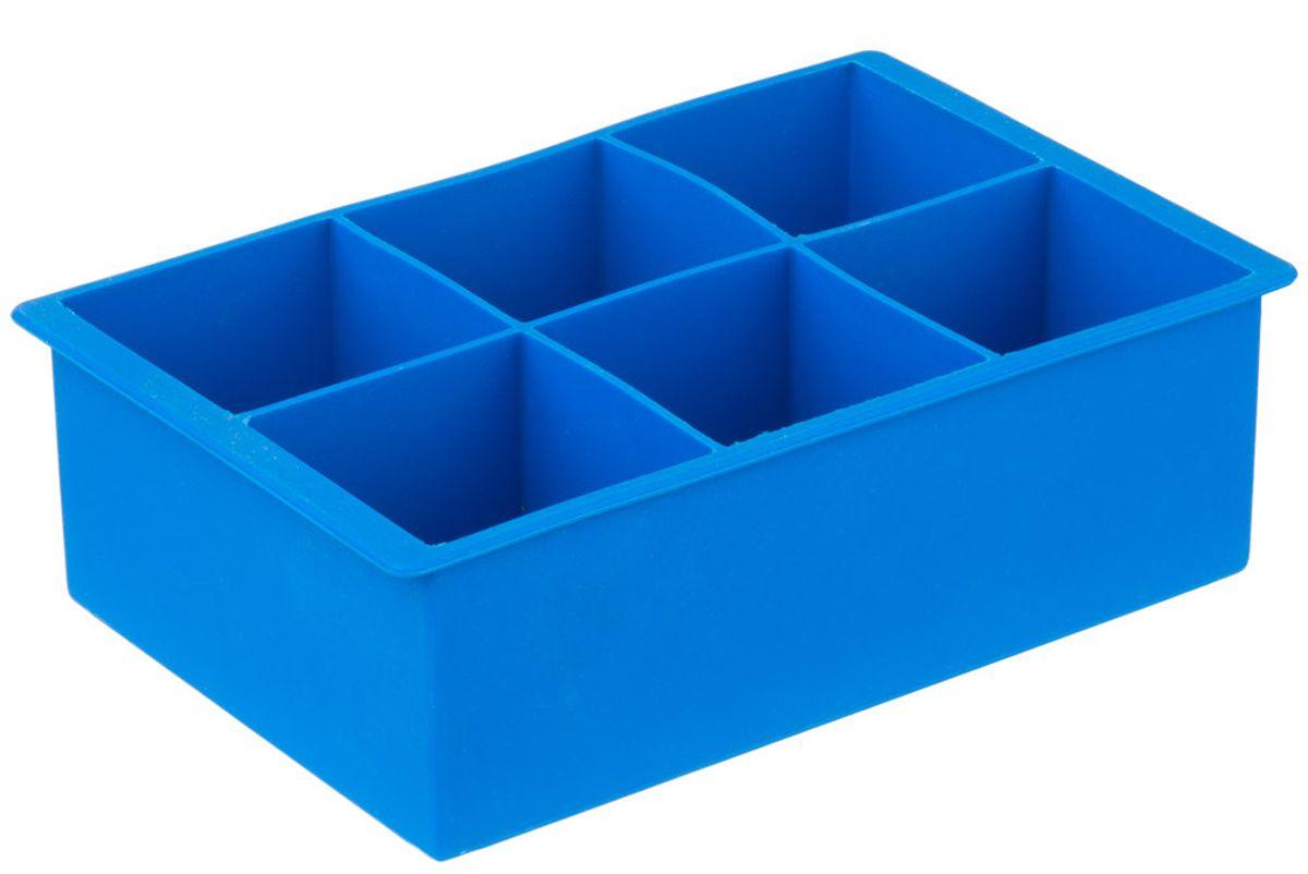 franmara blue silicone 6 compartment cube ice mold