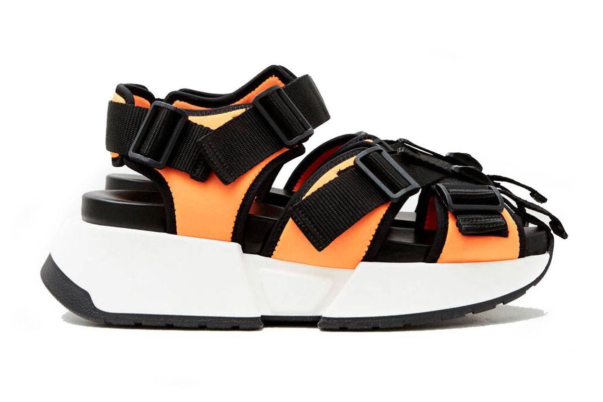 mm6 maison margiela buckle strap sandal