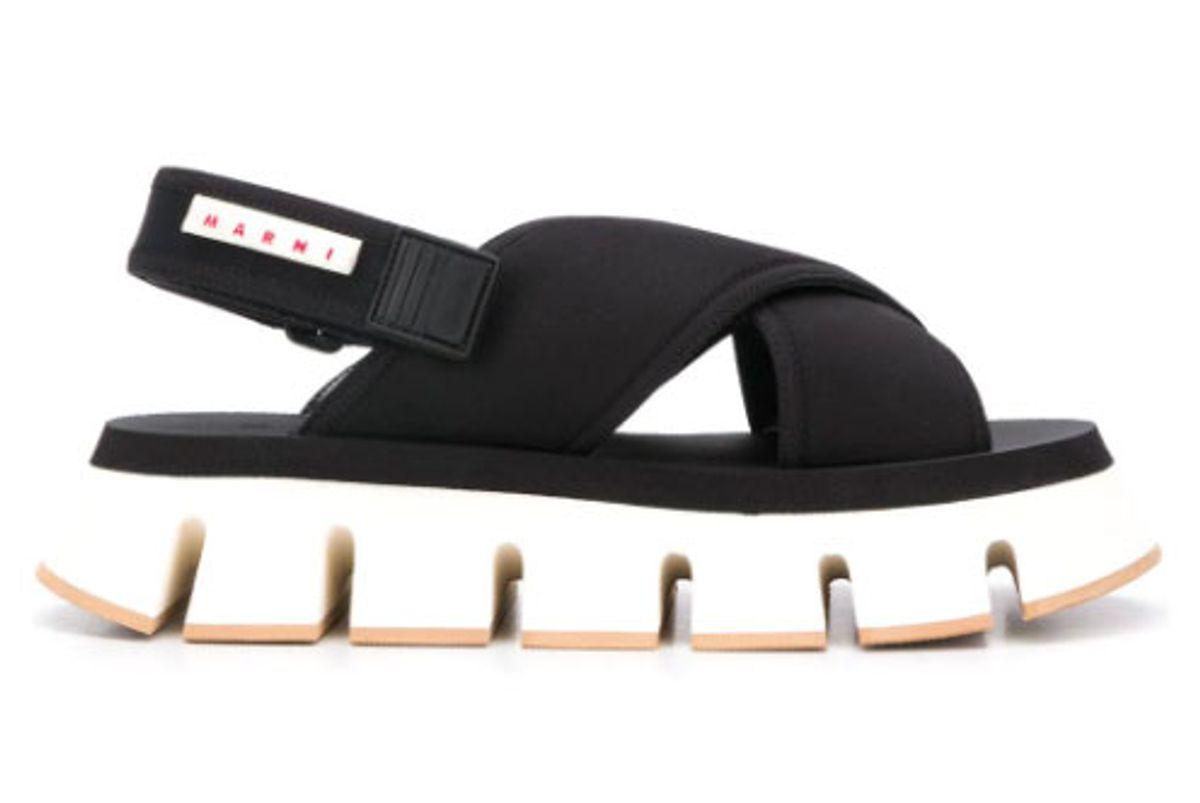 marni crossover ridged sandals