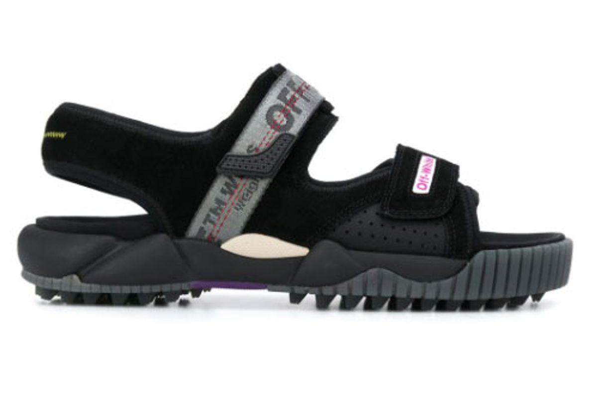 off-white logo strap ridged sandals