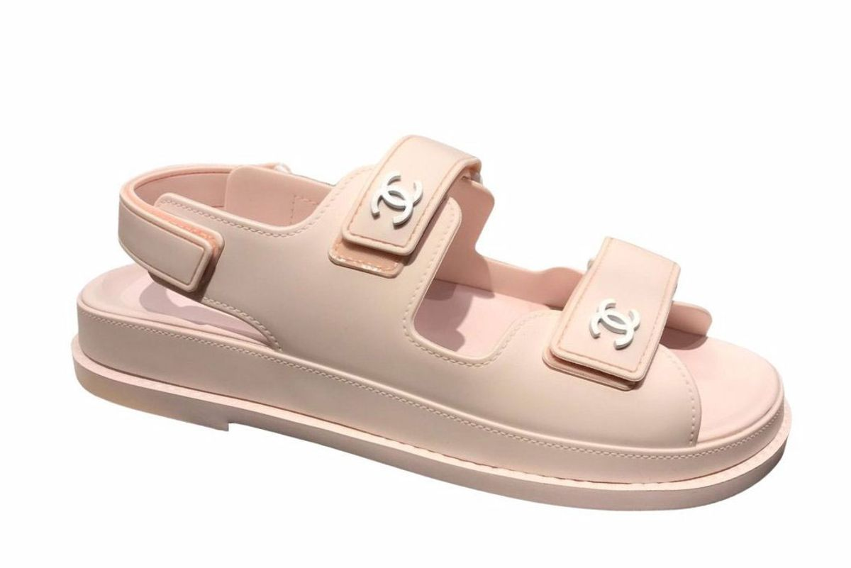 chanel rubber sandals