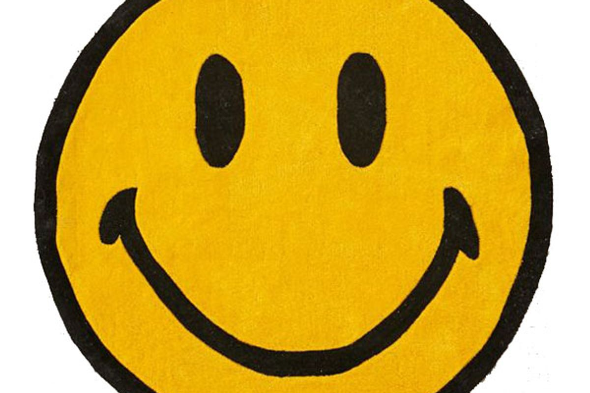 chinatown market x smiley uo exclusive smiley plush rug