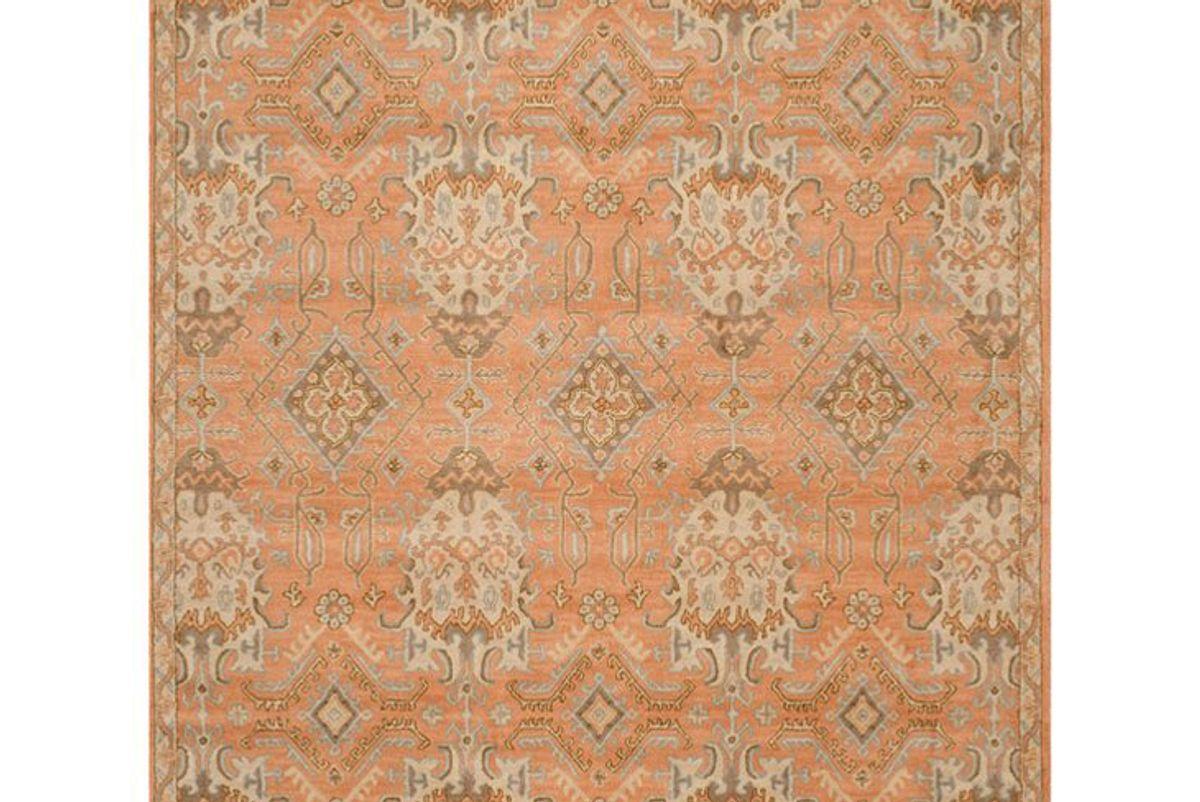 safavieh wyndham hand tufted wool terracotta olive green light blue cream area rug