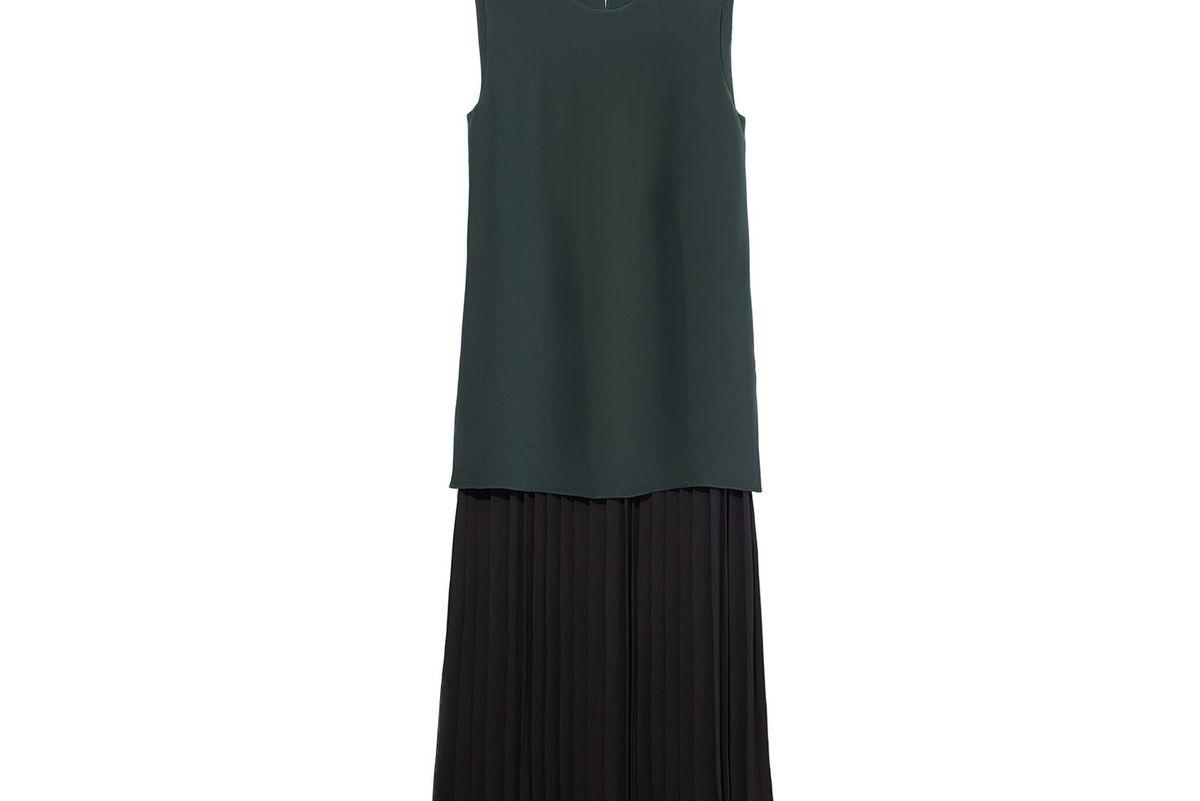 Black & Green Double Layer Dress