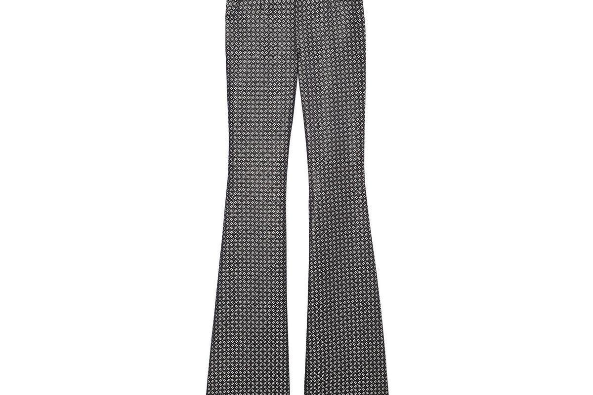 Black & Gold Brocade Flare Pant