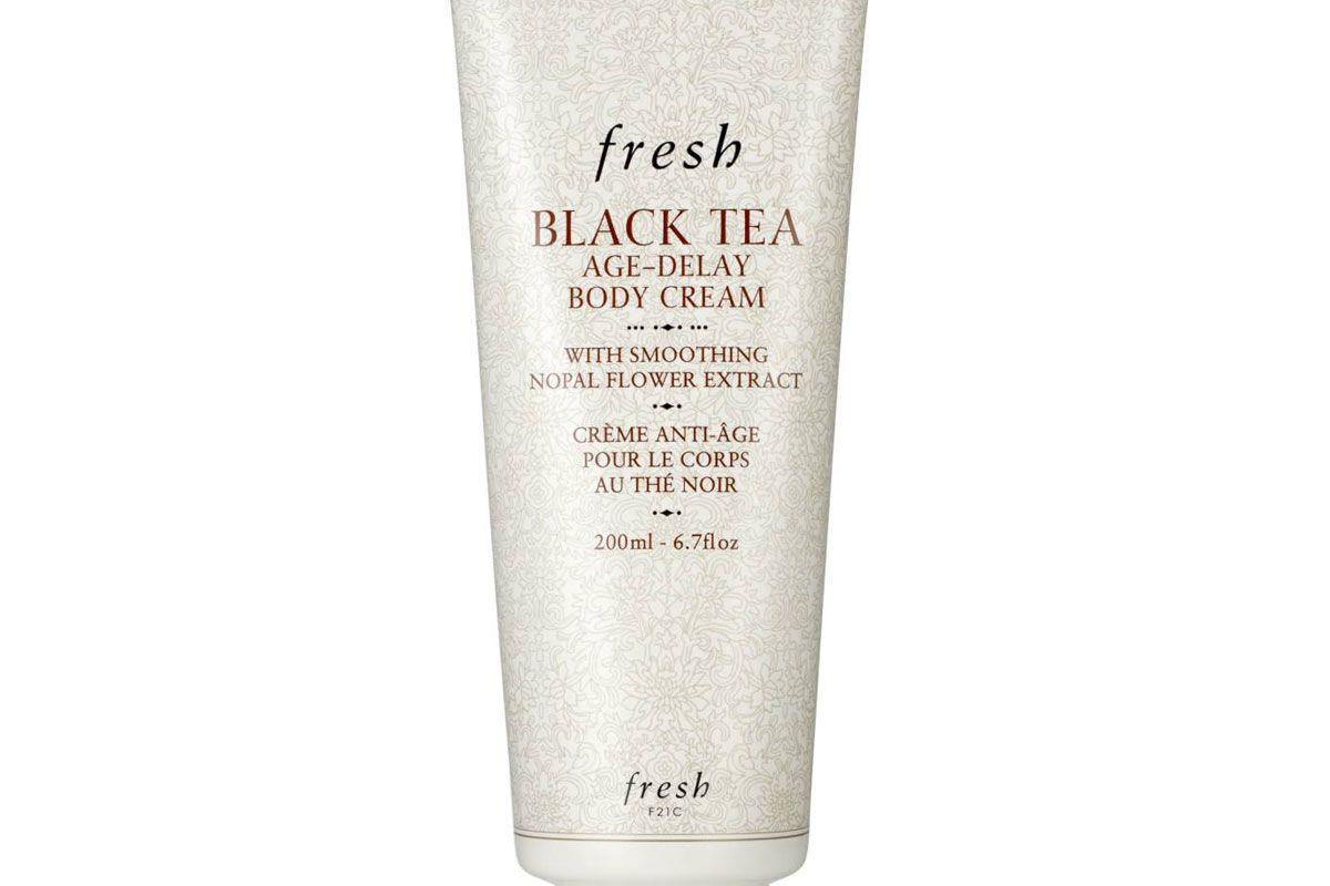 fresh black tea age-delay body cream
