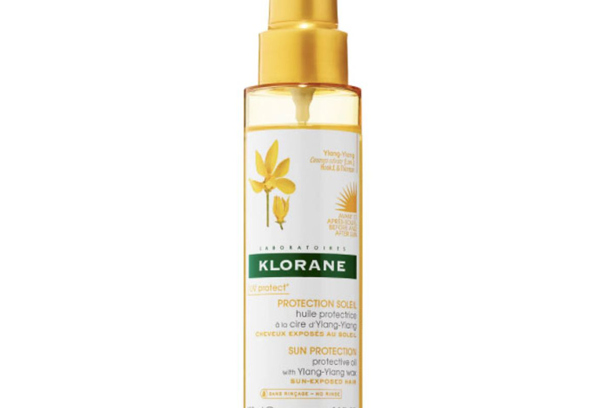 klorane protective oil with ylang-ylang wax for sun-exposed hair