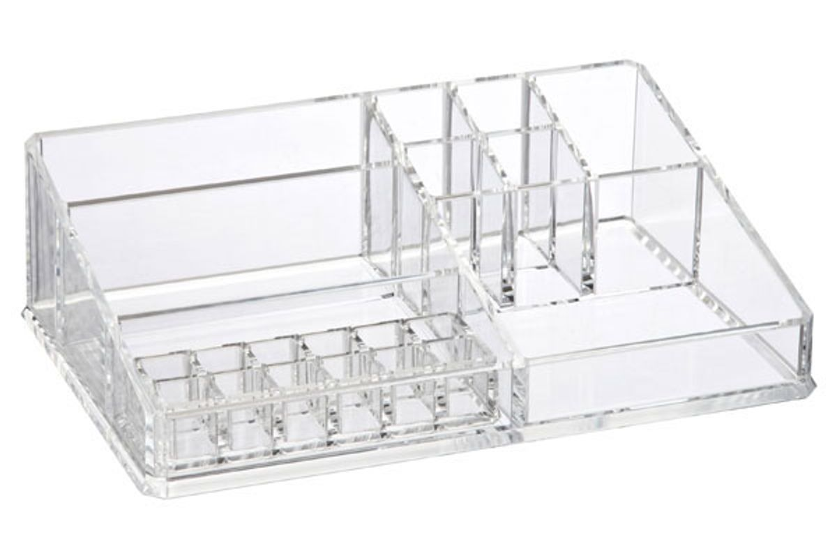the container store luxe acrylic makeup organizer storage kit