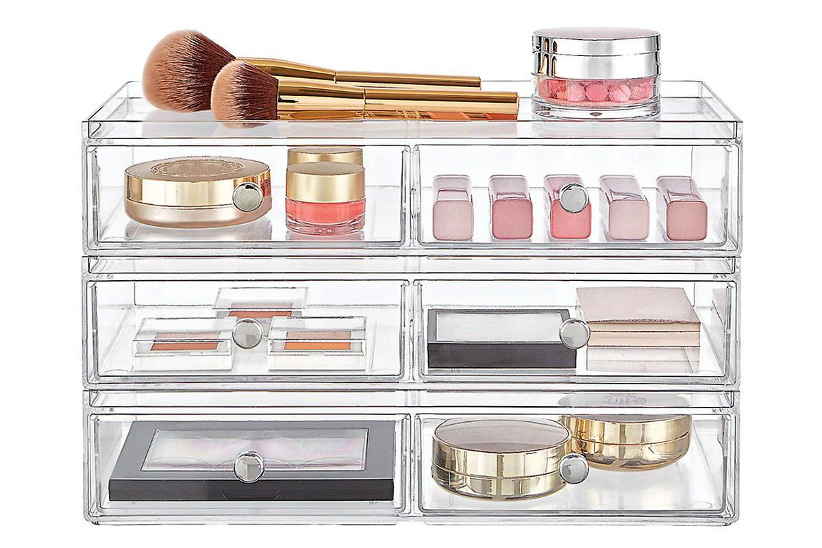 idesign clarity makeup and skincare storage kit
