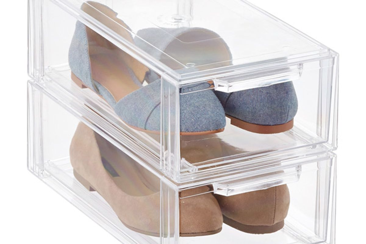 the container store stackable small shoe drawer