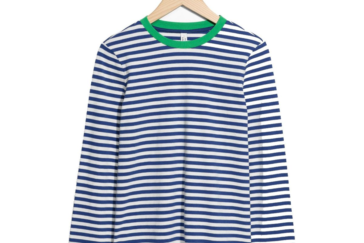 and other stories striped long sleeve tee