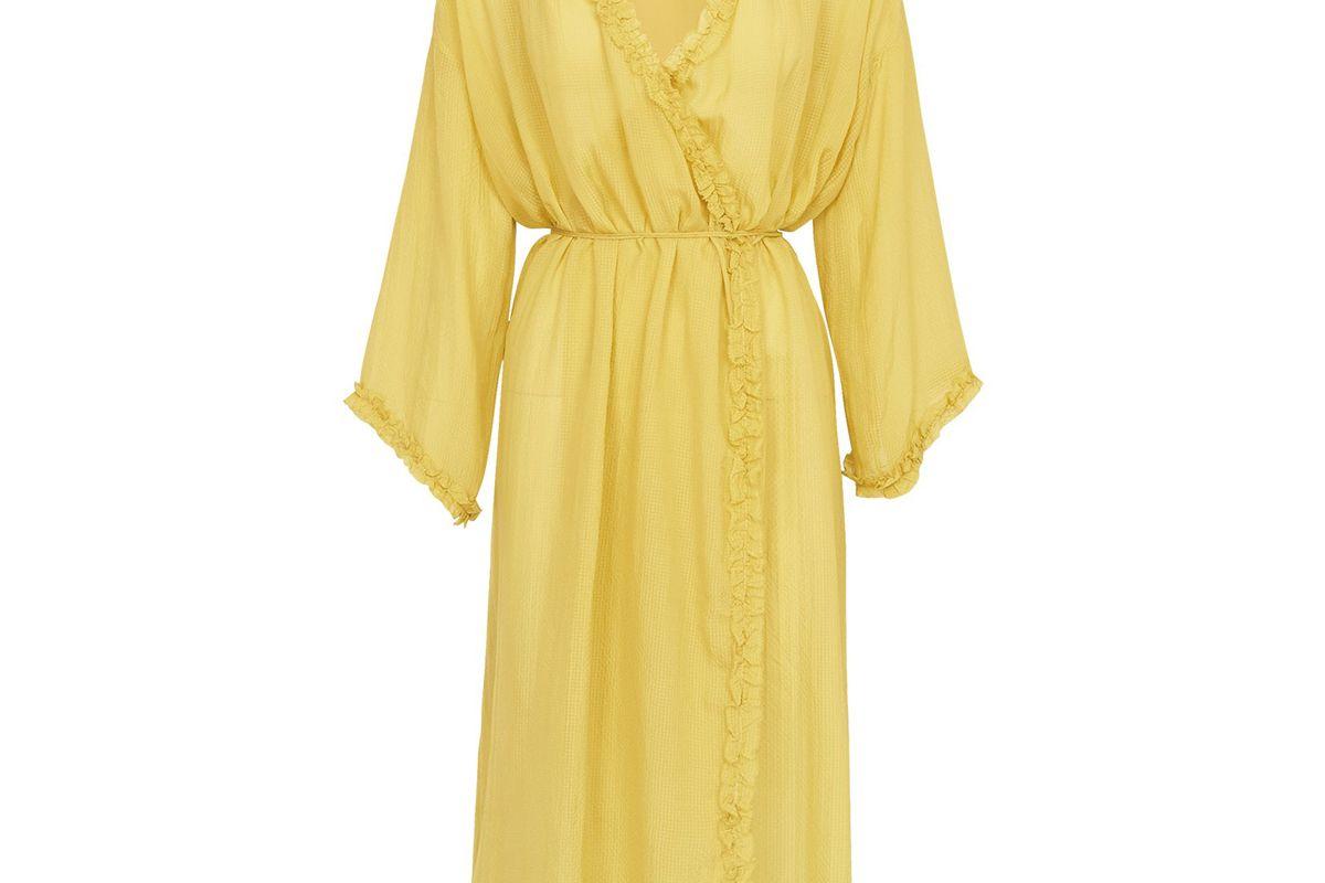 hanne bloch lime wrap dress