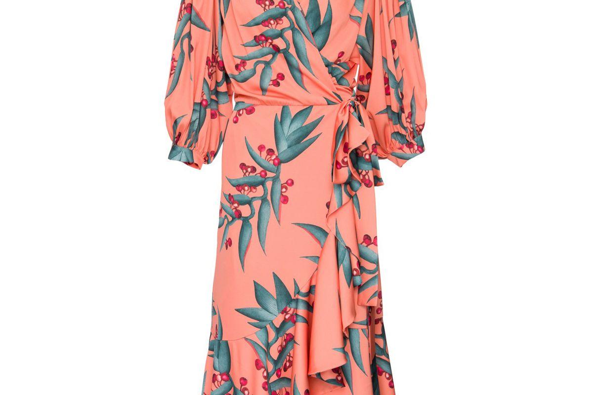 patbo midi wrap dress