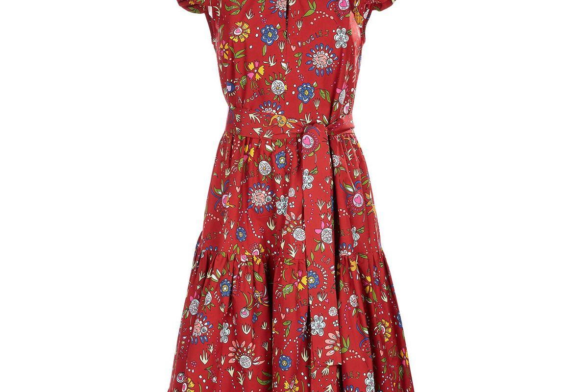 la double j short and Sassy dress babe bordeaux in cotton poplin