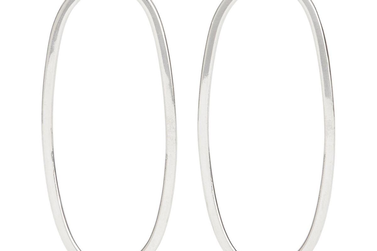 Imogen Silver Hoop Earrings