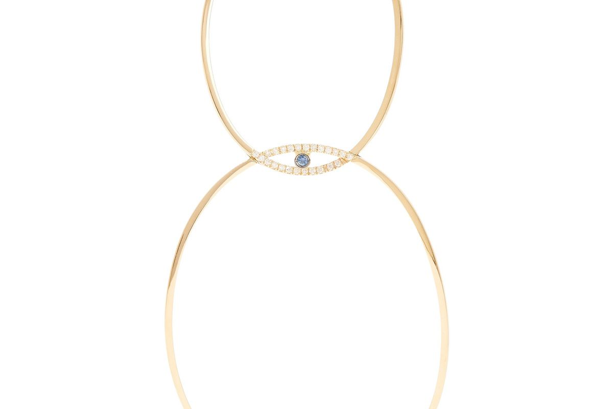 18-Karat Gold, Diamond and Sapphire Earring