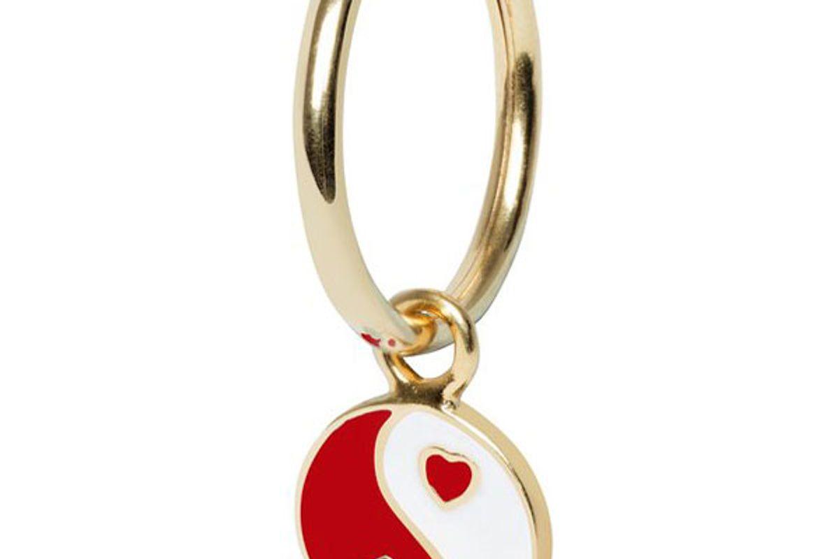 wilhelmina garcia gold yinyang red earring