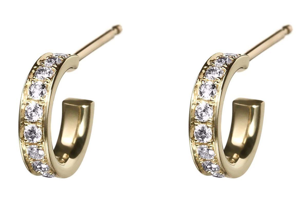 finn diamond huggie hoops