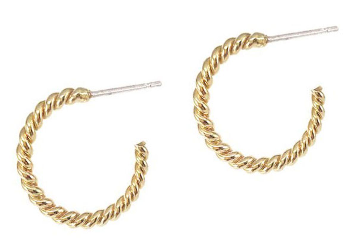 biko helix hoops small gold