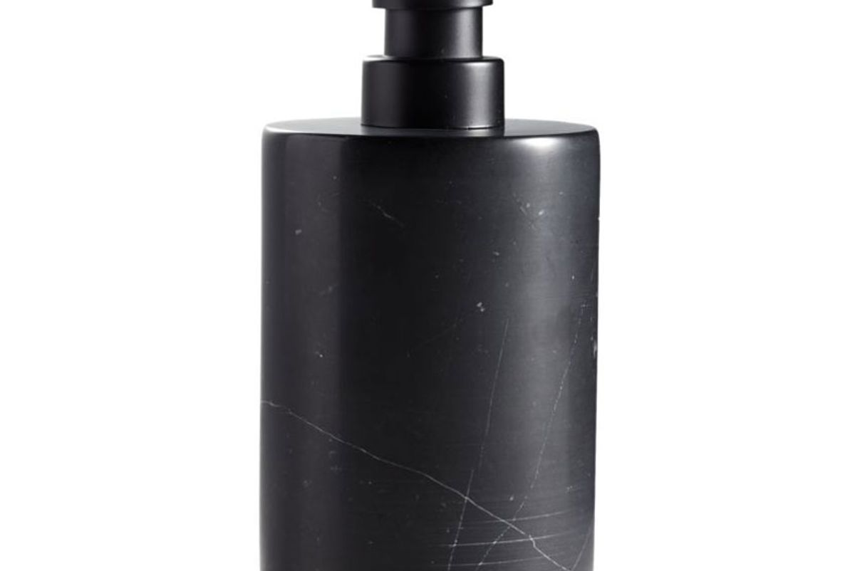 cb2 nexus black marble soap pump