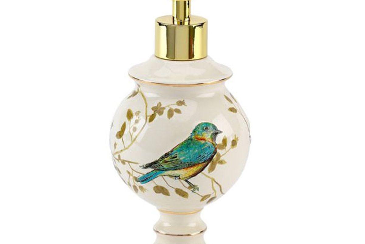 avanti linens gilded birds lotion pump ivory