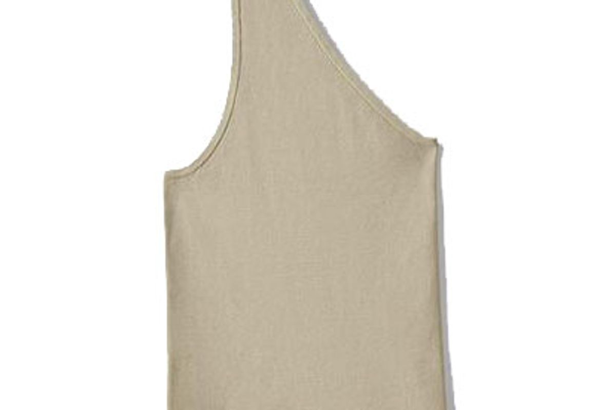 tibi giselle stretch sweater one shoulder cami
