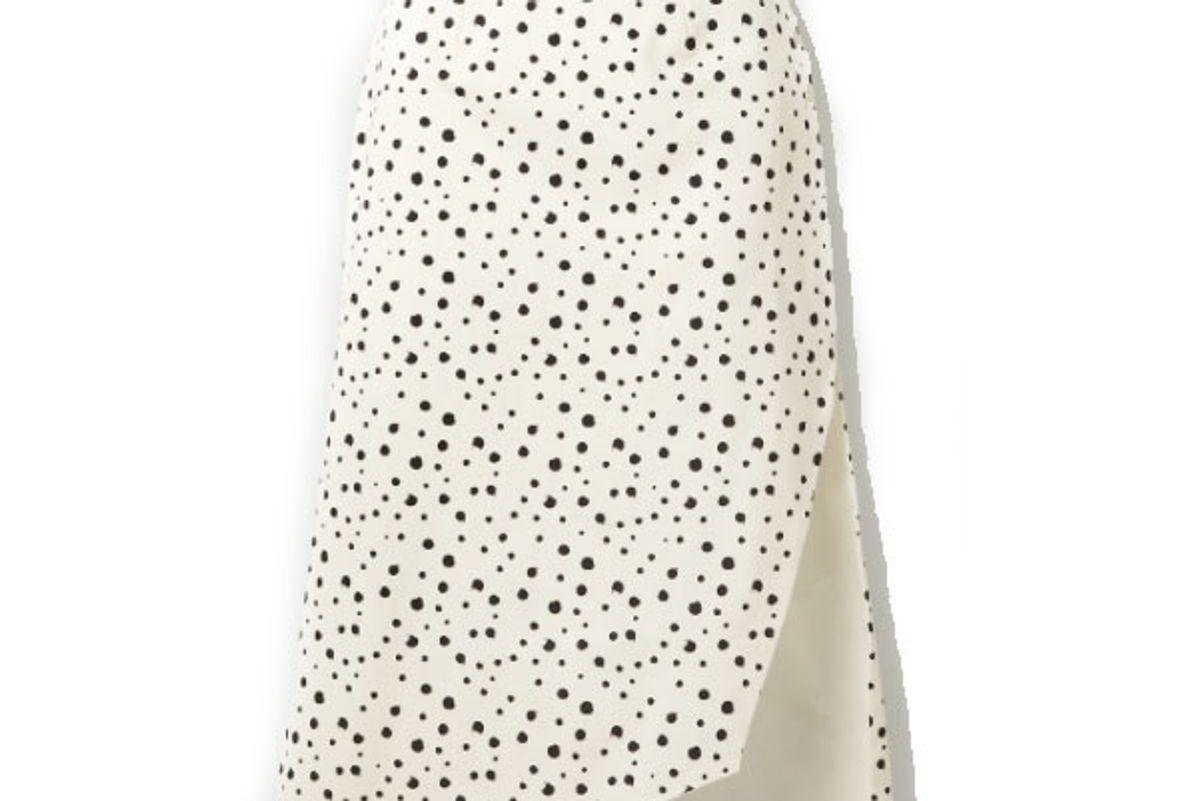 silvia tcherassi gimme asymmetric polka dot cotton blend skirt