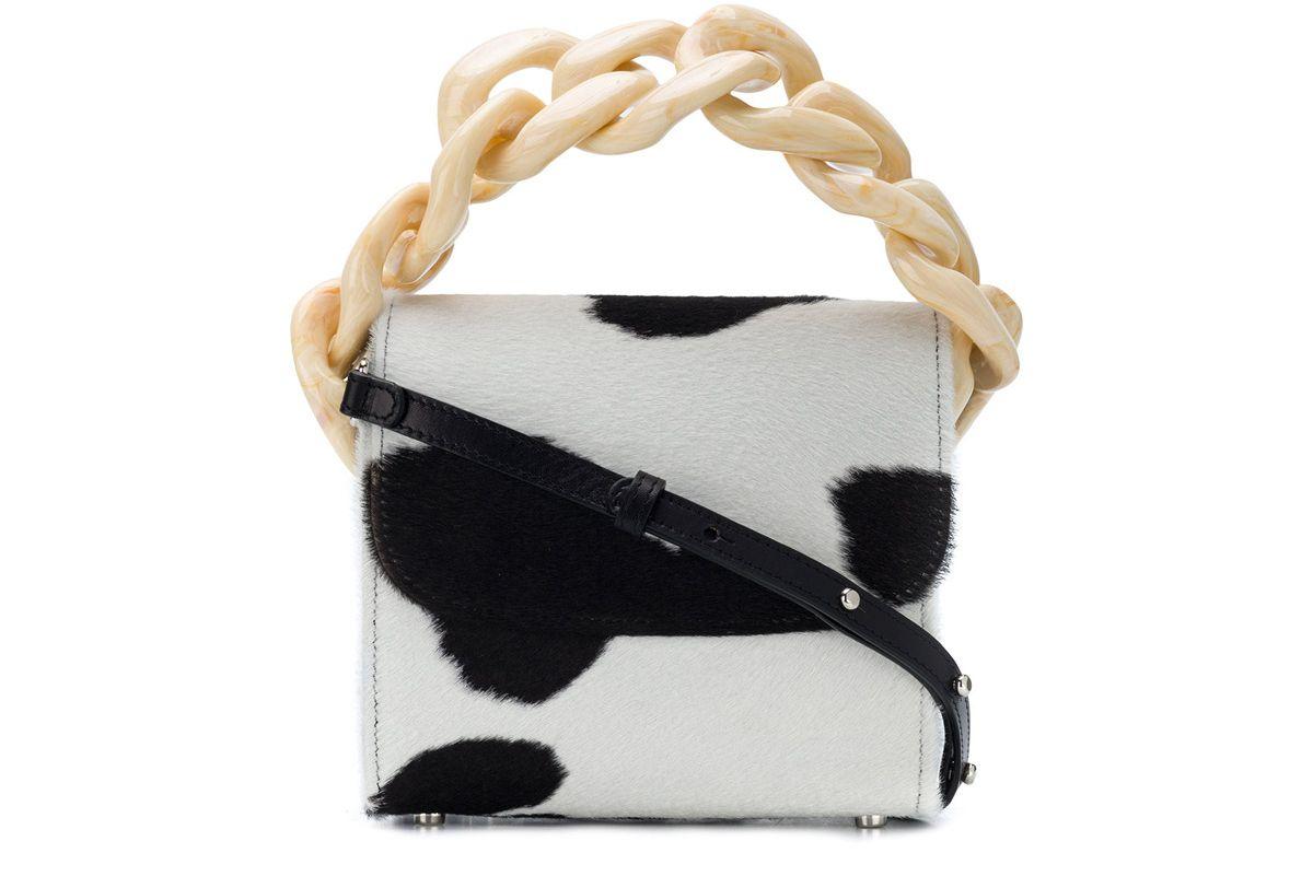 marques almeida calf hair mini bag