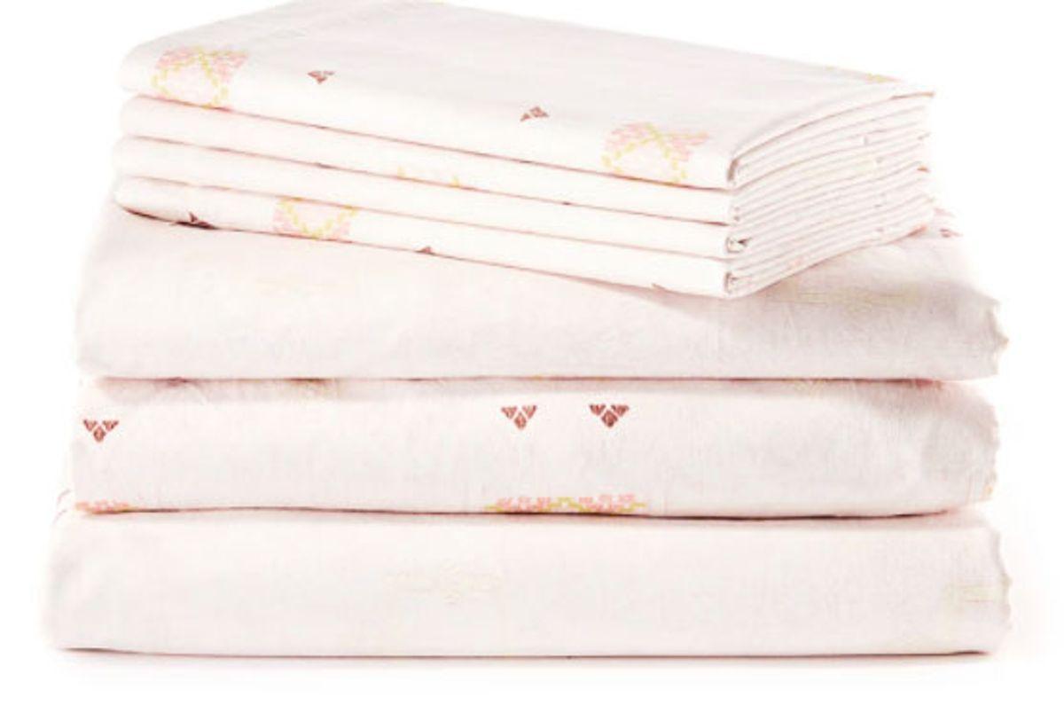 st frank blush cactus silk sheet set