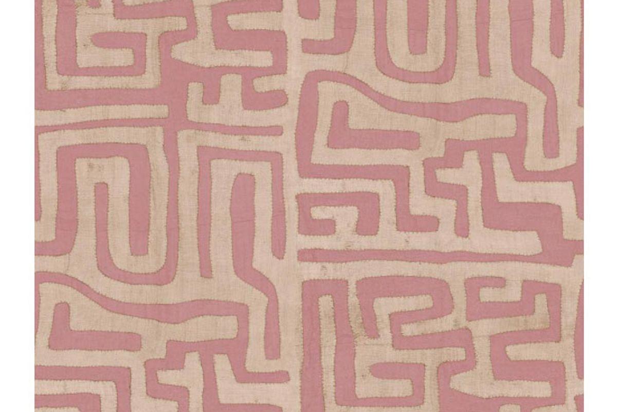 st frank terracotta classic kuba cloth wallpaper