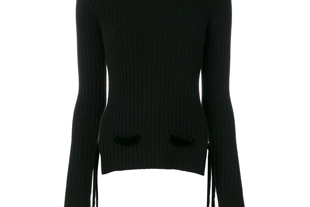 cashmere in love cashmere velvet belt sweater