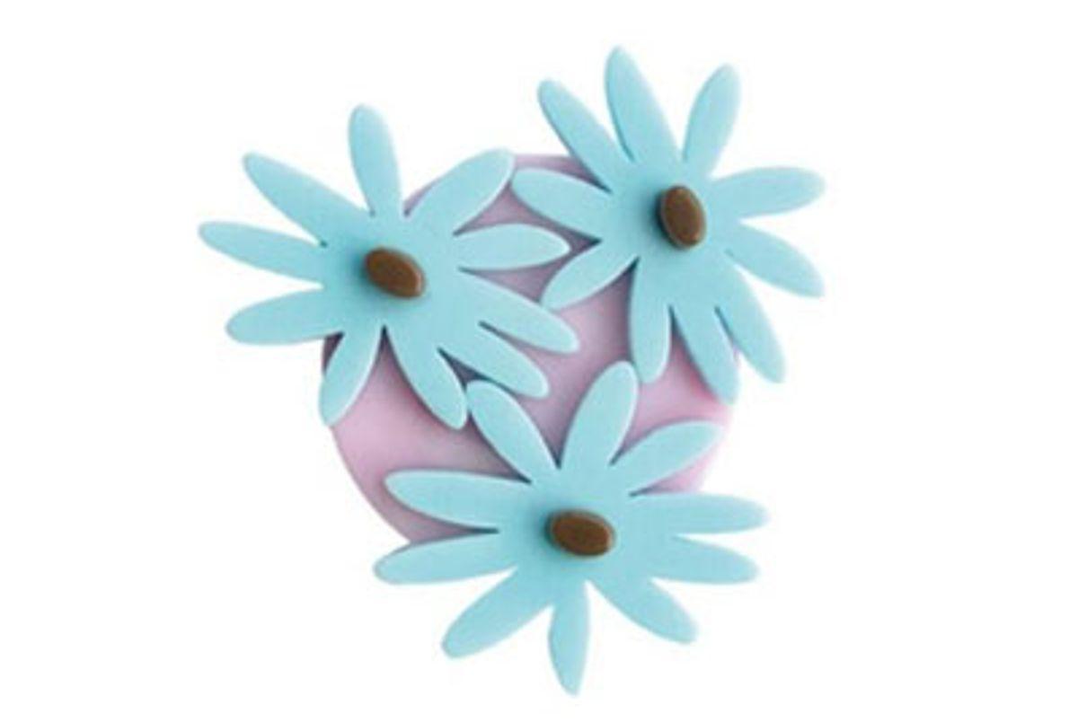 fruta triple daisy hair clip