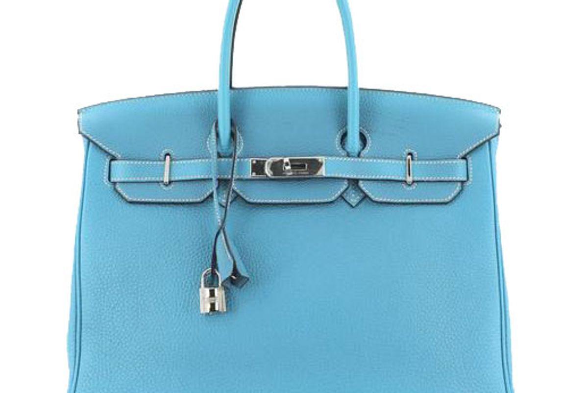 hermes birkin handbag bleu jean togo with palladium 35