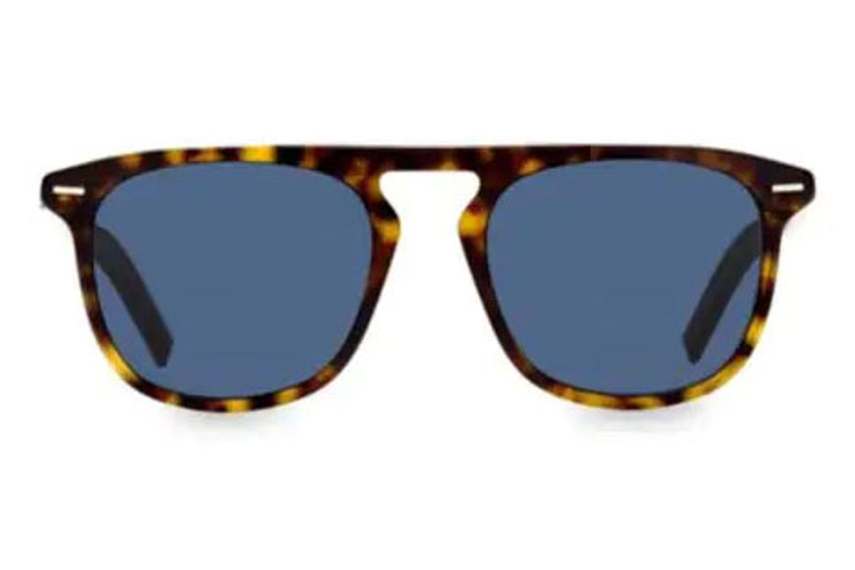 dior black tie 52mm square sunglasses