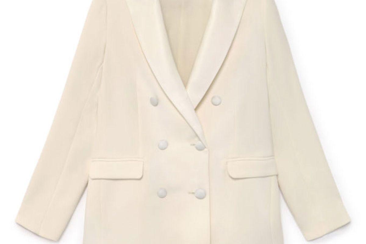 tot-hom white tuxedo jacket