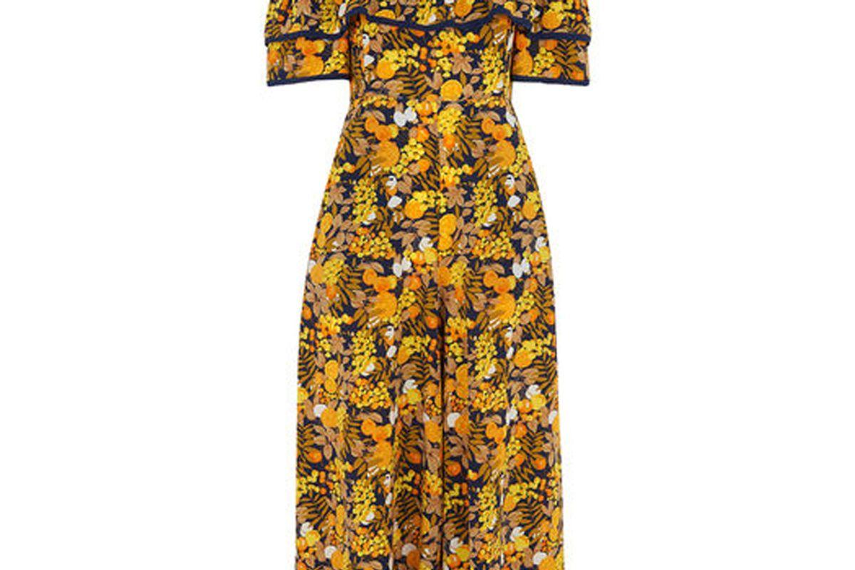 Nadia Citrus Silk Jumpsuit