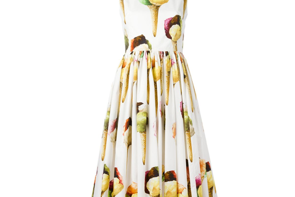 Gelato-Print Poplin Dress