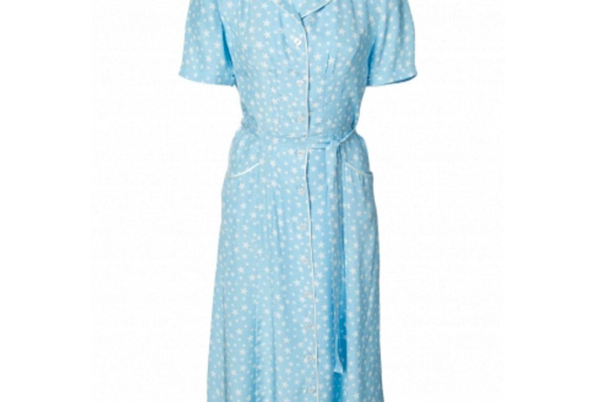 Short Sleeve Patterned Dress