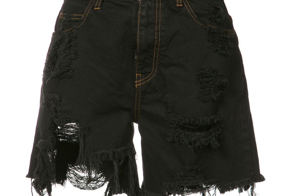Destroyed Denim Shorts