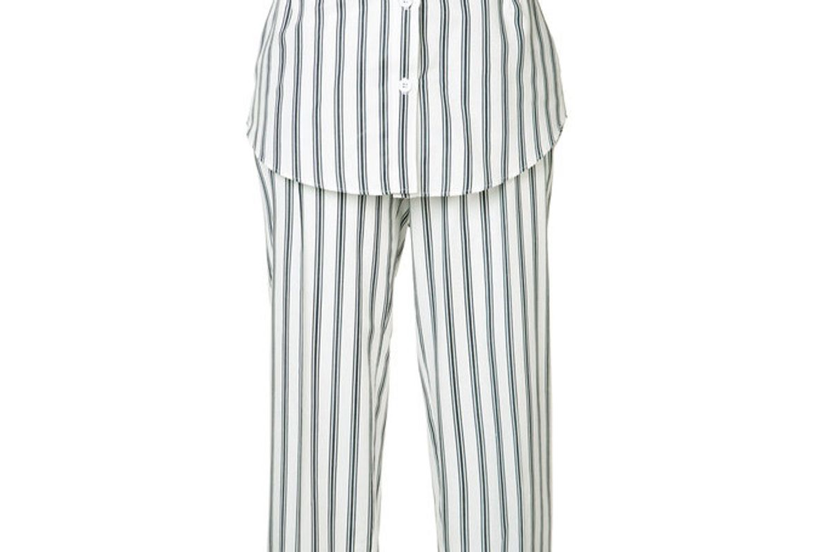 Striped Pant with Skirt