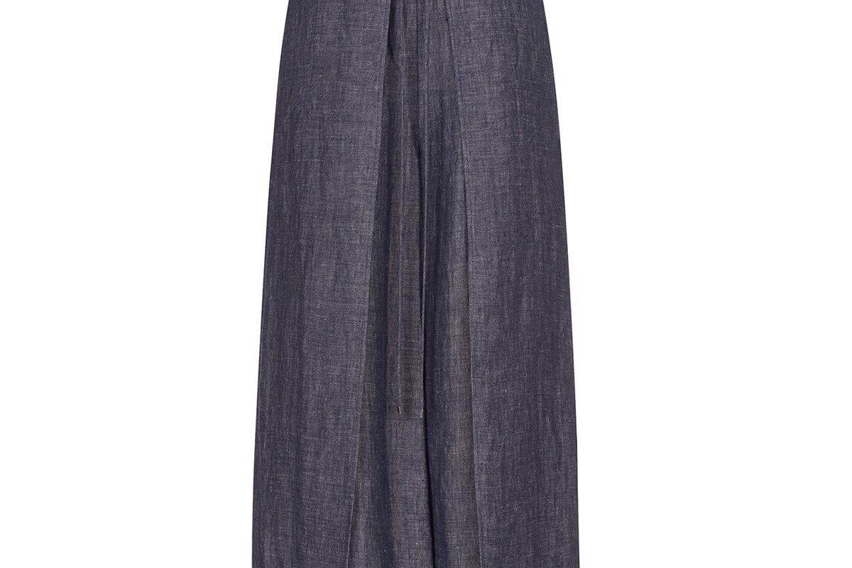 Indigo Wrap Panel Trousers