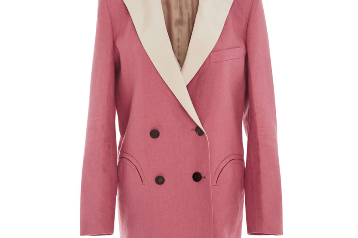 Mid-Day Sun Double Breasted Contrast Lapel Blazer