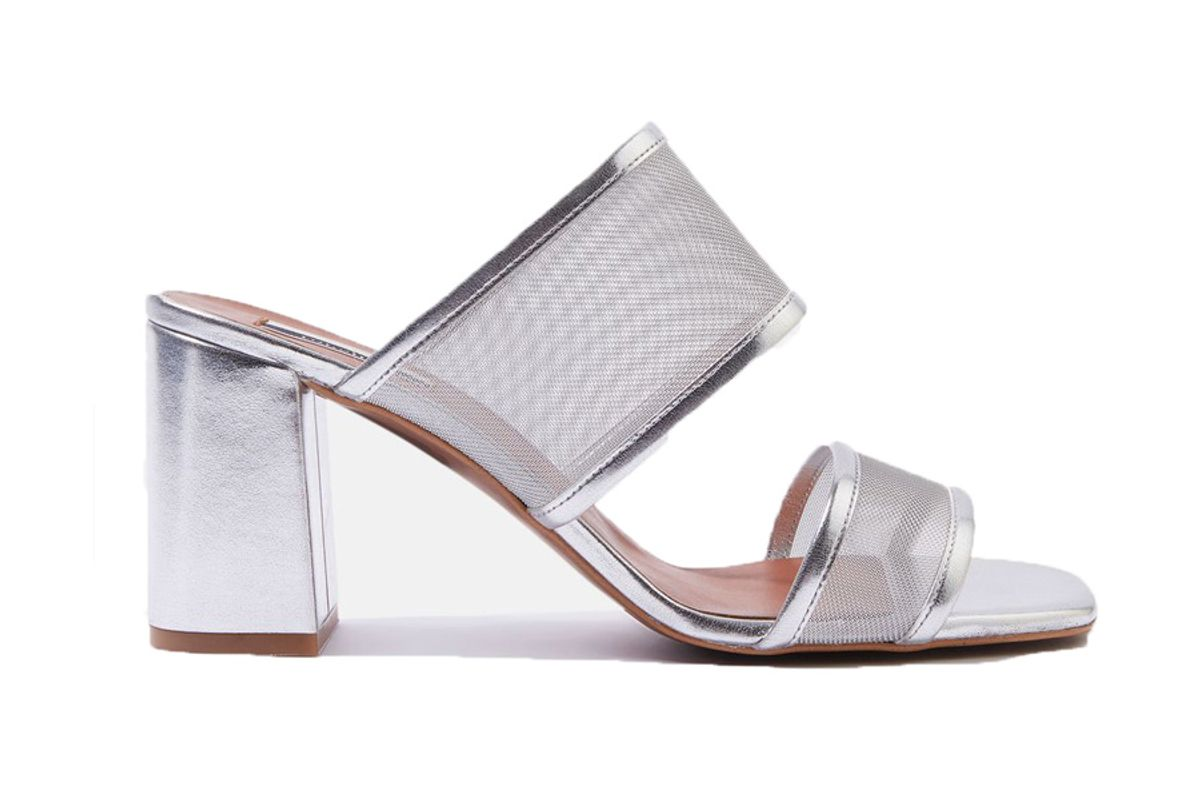 Nettle Mesh Block Heels